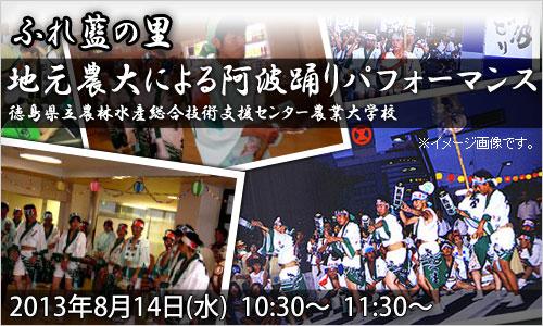 ふれ藍の里:阿波踊りパフォーマンス 8月14日(水)