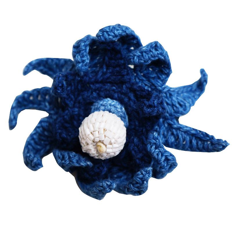 阿波藍染工房:リネンコットン糸のブローチ (starfish)(淡)ページ追加