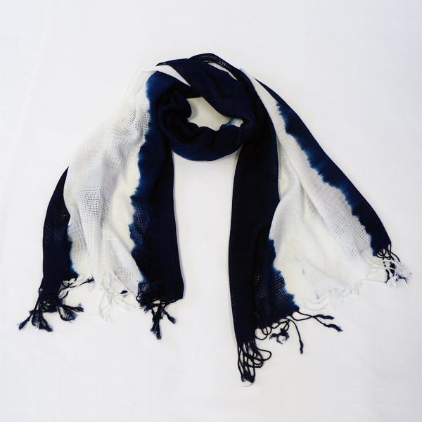 藍屋敷おくむら:オリジナル本藍染:レーヨンストール (一本線)ページ追加