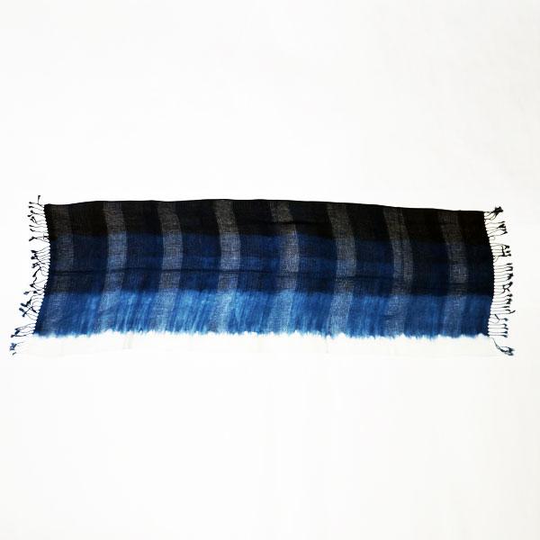 藍屋敷おくむら:オリジナル本藍染:レーヨンストール (段染め)ページ追加